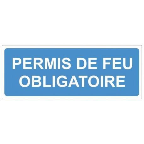 Sticker obligation - Permis de feu obligatoire