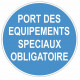 Sticker obligation - Port des équipements spéciaux obligatoire
