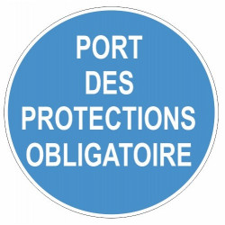 Sticker obligation - Port des protections obligatoire