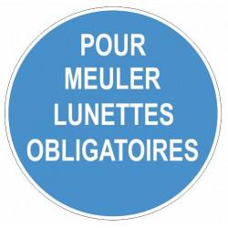 Sticker obligation - Pour meuler lunettes obligatoires