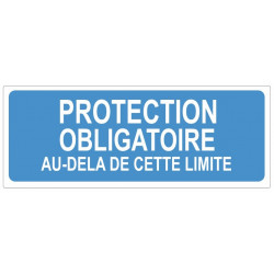 Sticker obligation - Protection obligatoire au dela de cette limite