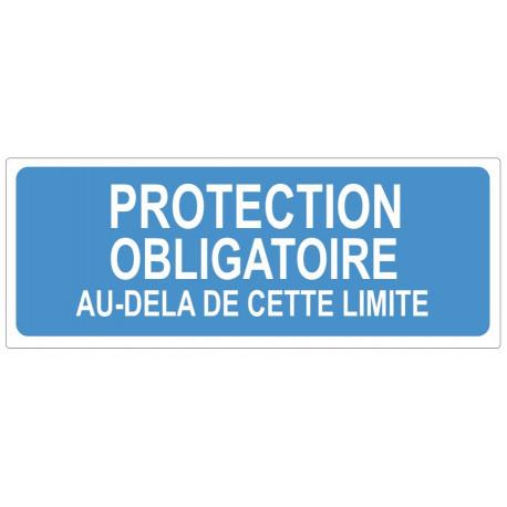 Sticker obligation - Protection obligatoire au dela de cette limite
