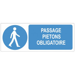 Sticker obligation - Passage piétons obligatoire
