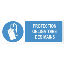 Sticker obligation - Protection obligatoire des mains