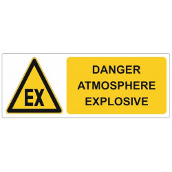 Sticker danger - Danger atmosphere explosive ATEX