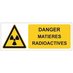 Sticker Danger matières radioactives
