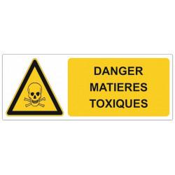 Sticker Danger matières toxiques