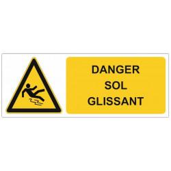 Sticker Danger sol glissant