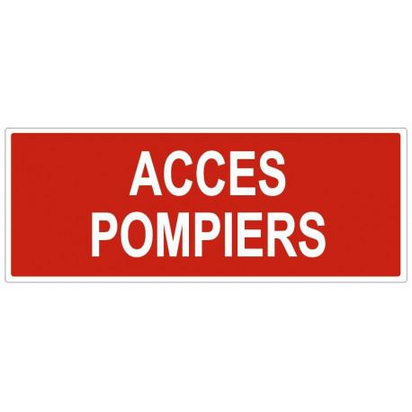 Sticker Accès pompier