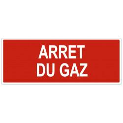 Sticker Arrêt du gaz