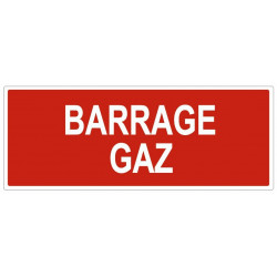 Sticker Barrage gaz