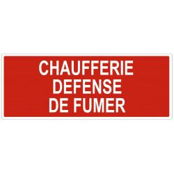 Sticker Chaufferie defense de fumer