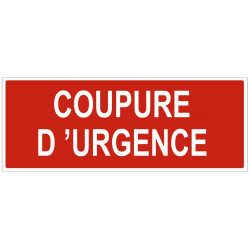 Sticker Coupure d'urgence