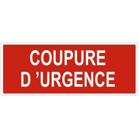 Sticker Coupure d'urgence