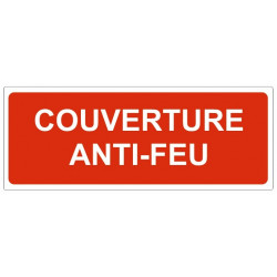 Sticker Couverture anti-feu