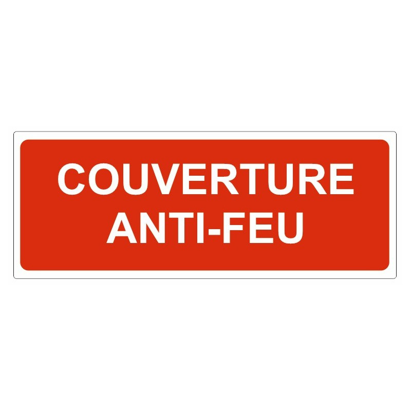 sticker signal tique couverture anti feu etiquette autocollant. Black Bedroom Furniture Sets. Home Design Ideas