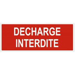 Sticker Décharge interdite