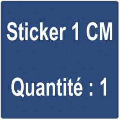 A) Sticker 1 cm - Quantité : 1