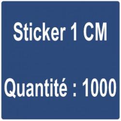 G) Sticker 1 cm - Quantité : 1000