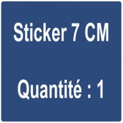A) Sticker 7 cm - Quantité : 1
