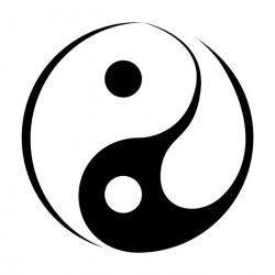 Sticker Bouddha Ying Yang
