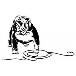 Sticker bulldog français 07