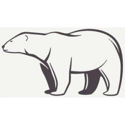 Sticker ours blanc géant
