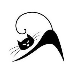 Sticker chat silouhette 16