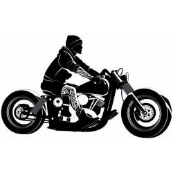 Sticker moto vintage harley