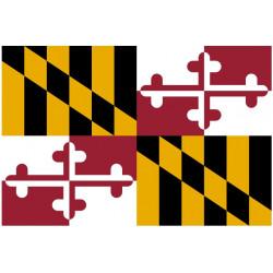 Sticker Drapeau Maryland