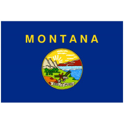 Sticker Drapeau Montana