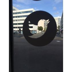 Sticker Twitter blanc et vide à l'intérieur
