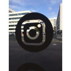 Sticker Instagram blanc et vide à l'intérieur