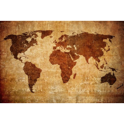 Sticker vintage Carte map monde