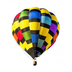Sticker montgolfière multicolor
