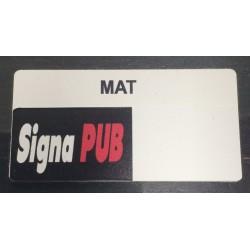 Sticker autocollant Mat