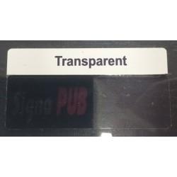 Sticker autocollant Transparent