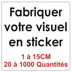 Sticker transparent 1CM à 15CM - Quantité 20 à 1000 unités