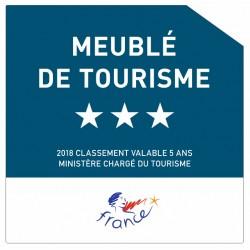 Sticker Meublé de tourisme 3 étoiles