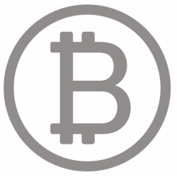 Sticker bitcoin gris