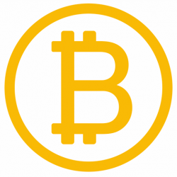 Sticker bitcoin jaune