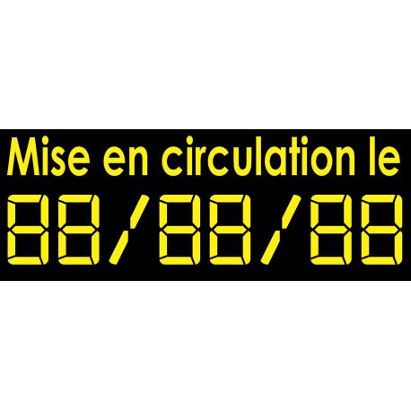 Sticker chiffres digital mise en circulation