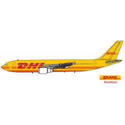 Sticker DHL avion