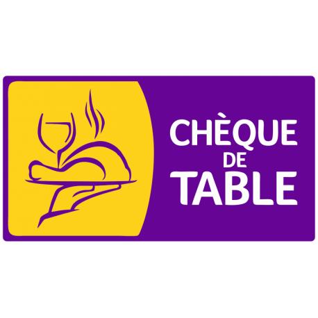 Sticker Cheque De Table Pour Votre Commerce Etiquette Autocollant