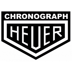 Sticker Chronograph HEUER noir