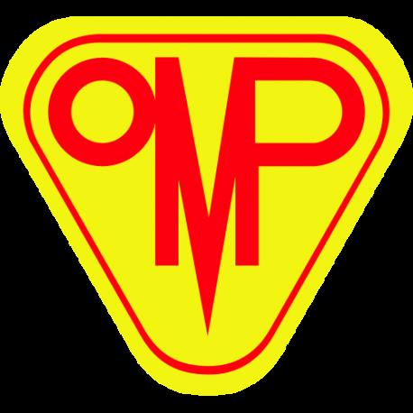 Sticker OMP jaune et rouge