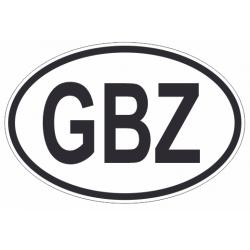 Sticker Code Pays Gibraltar