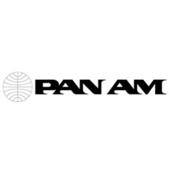 Sticker Pan Am lettres