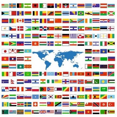 Sticker drapeau lot (de 1 cm à 5 cm)