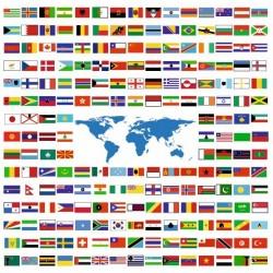Sticker drapeaux du monde au choix (4 cm sur 2.6 cm)